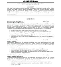 Resume For Service Manager Customer Sample