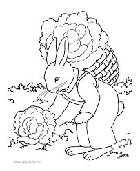 Child Easter Coloring Sheet