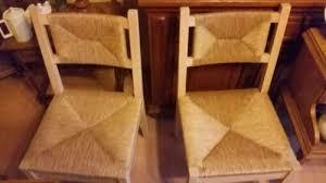2 x ikea vollholz stühle mit rattan sitzfläche neuwertig