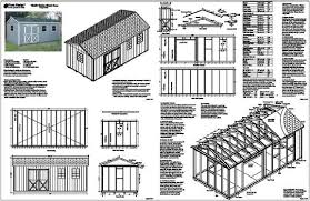 Free Storage Shed Plans 16x20 by Download 20 X 20 Storage Building Plans Plans Free