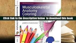 Download Pdf Musculoskeletal Anatomy Coloring Book E