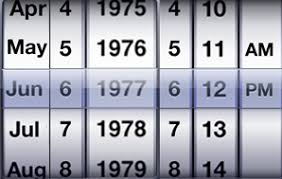 iphone how to change my date picker show in only month date