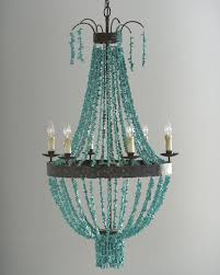 Destinations By Regina Andrew Lamps by Regina Andrew Design Turquoise Beads 6 Light Chandelier