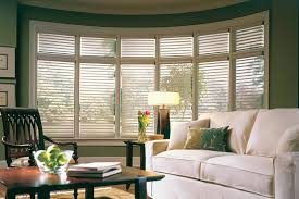 Home Depot Venetian Blinds Rustic Wood Arched Bay Window With Living Room
