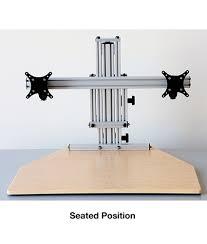 Kangaroo Standing Desk Dual Monitor by Kangaroo Elite Desktop Sit Stand Workstation Dual Monitor