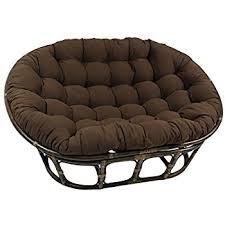 Papasan Chair Cushions Uk by Amazon Com Rattan Papasan Chair With Cushion Kitchen U0026 Dining