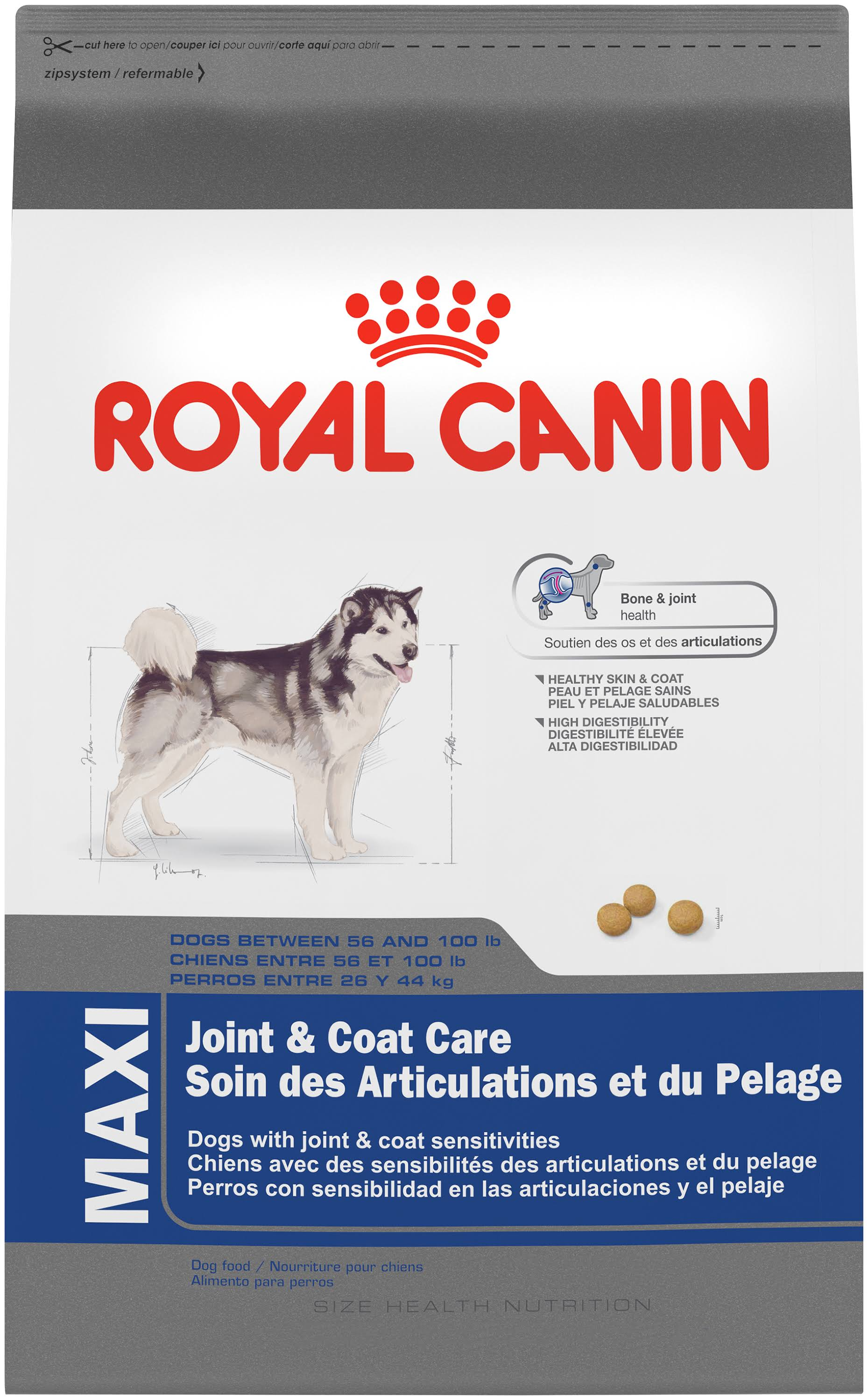 Royal Canin Size Health Nutrition Maxi Joint Coat Care Dry Dog Food - 30lbs