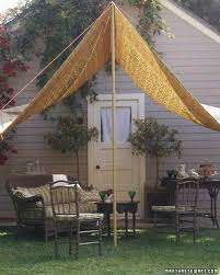 A Slice Of Shade: Creating Canopies | Martha Stewart Outdoor Ideas Magnificent Patio Window Shades 5 Diy Shade For Your Deck Or Hgtvs Decorating Gazebos And Canopies French Creative Diy Canopy Garden Cozy Frameless Simple Wooden Gazebo Home Decor Awesome Backyard Tents Appealing Swing With Sears 2 Person Black Wicker Easy Unique Image On Stunning Small Ergonomic Tent Living Area Also Seating Backyard Ideas