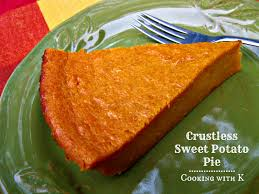 Pumpkin Pie Without Crust Healthy by Cooking With K Crustless Sweet Potato Pie A Classic Way To Use