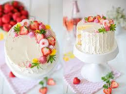 limonen schmand torte mit erdbeeren mit unsere heimat