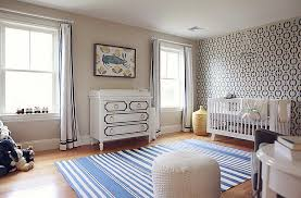 white nursery crib with light blue walls transitional nursery