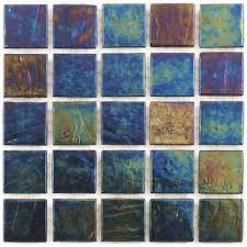 tivoli iridescent glass tile series indigo blend pool tile ideas