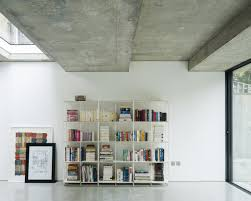 bureau change living area with concrete ceiling slab by bureau de change up