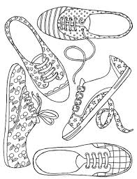 Girl Shoes More Coloring Pages