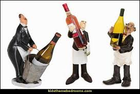 Butler Wine Holder With Bucket Statue French Waiter Bottle Fat Chef Kitchen CANISTER SET