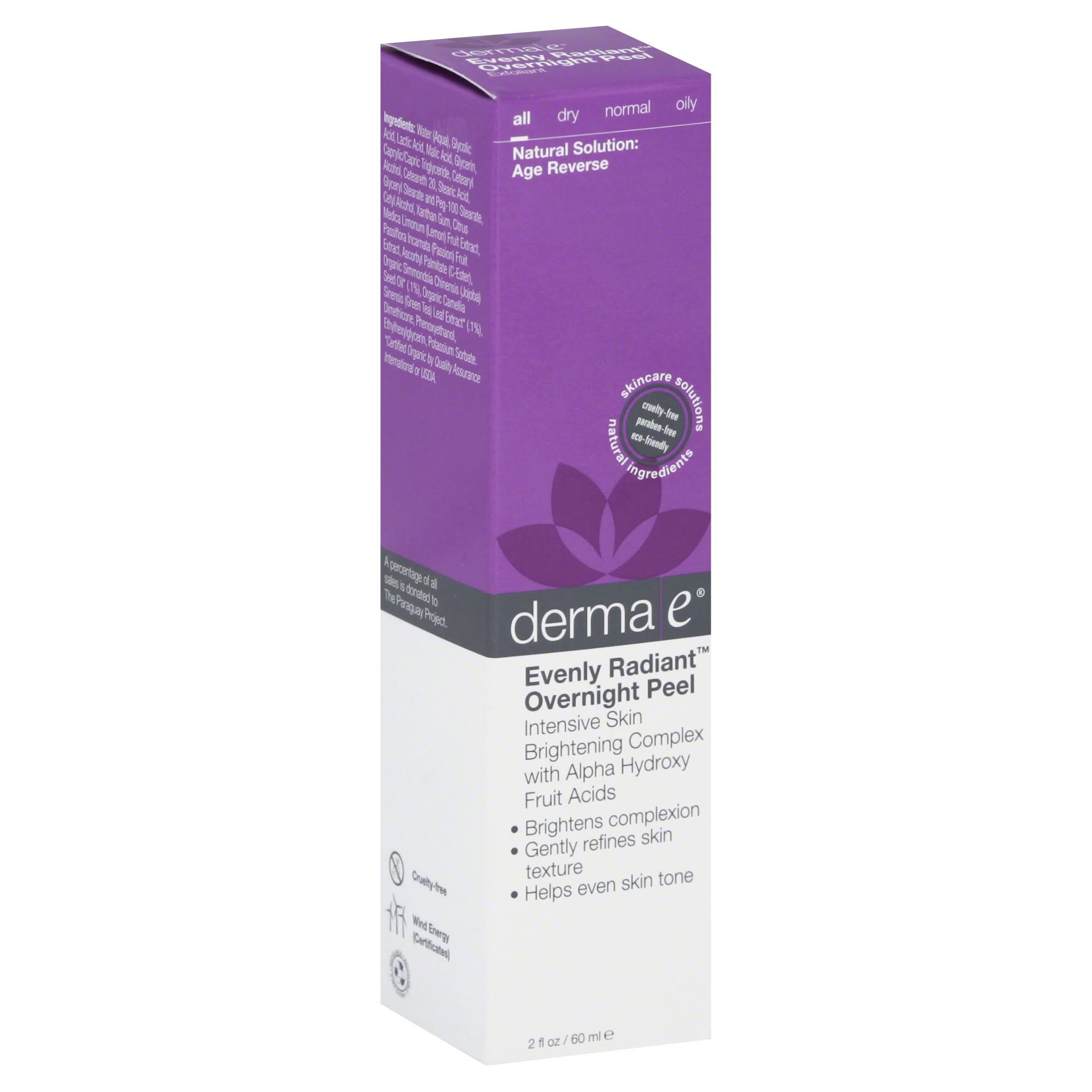 Derma E Evenly Radiant Overnight Peel - 60ml