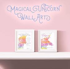 You Love This Unicorn Themed Printable Wall Art With Quotes