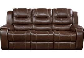 Veneto Brown Leather Reclining Sofa Leather Sofas Brown