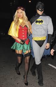 Purge Halloween Mask Couple by Paris Hilton And River Viiperi As Robin And Batman Paris Hilton