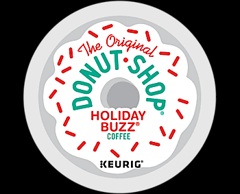 24 ct The Original Donut Shop Holiday Buzz Coffee K-Cup Pods.