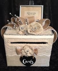 Burlap Wedding Money Card Gift Box For Receptionrustic Reception Decorationburlap Cake