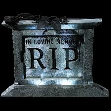 Creepy Halloween Tombstone Sayings by Animated Props Lighted Haunted House Motion Activated Spooky Sound