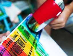 Creative Ideas Crayon Melting Art Designs