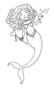 Mermaid Colouring Book For Adults Coloring Pages Kids Free To Print Pictures