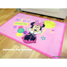 Kids Rugs 100x150cm Minnie Mouse Butterfly Free Shipping