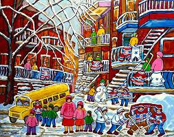 Carole Spandau Artwork Collection SCENES DE RUE MONTREAL QUEBEC