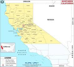 Map Of Northern Showing The Counties California By Population