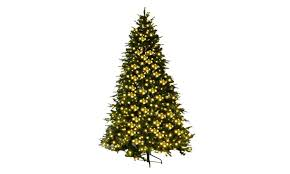 8Ft Pre Lit Artificial Christmas Tree Hinged W 600 LED Lights