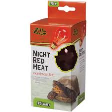 r zilla incandescent night red heat bulb 75 watt