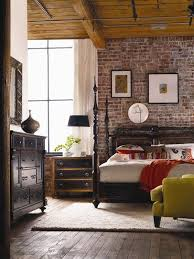Vintage Furniture And Modern Exposed Brick Wall