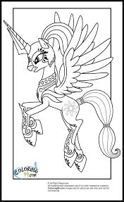 Free My Little Pony Coloring Pages To Print Princess Celestia Printable