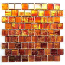 glasfliesen mosaik badezimmer und küche drio orange