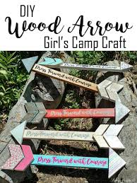 DIY Wood Arrow Makes A Fun Project For Craft Night We Made These At Girls