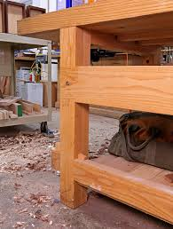 21st century workbench leg joints popular woodworking magazine