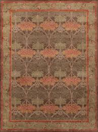 Rugsville Arts and Crafts Green Rug Rugsville