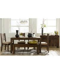 avondale 6 pc dining room set table bench 4 side chairs
