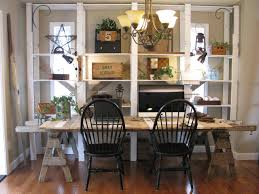100 Repurposed Dining Table And Chairs Furniture Rectangular Sawhorse Desk With Rattan Wall