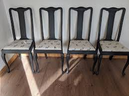 Six Vintage Dining Chairs 4+ 2 Carver. Rustic Shabby Chic  Charcoal/stag/Queen Anne. LOCAL DELIVERY.   In Hammersmith, London   Gumtree Encarnacion Ding Chair Sold Out Henkel Harris Mahogany Queen Anne Chairs Set Of 6 Rustic Circular Farmhouse Shabby Chic Ding Table 4 Vintage Chairs Local Delivery In Hammersmith Ldon Gumtree Evolution Seven Piece With By Legacy Classic At Lindys Fniture Company Rooms Cherie Rose Collection Tone On Duncan Phyfe Painted Regency Table Suite Ebay Im So Doing This Someday To My Set Painted White Queen Anne Andersen Stauffer Makers Seating Pladelphia Lavinia Double Extension Double Extension 31m In Stock Room Cloth Homesfeed