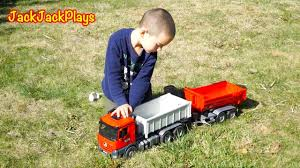 Bruder Dump Trucks Toy Unboxing - Kid Playing With Diggers + Truck ...