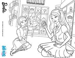 Blair And Her Friend Isla Barbie Printable Color Online Print