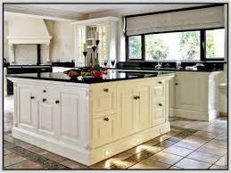 Antique Kitchen White Cabinet Black Granite Countertop