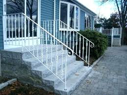 Exterior Wrought Iron Stair Railings Porch Steps Handrail Image