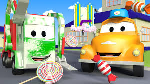 Tom The Tow Truck's Car Wash And Gary The Garbage Truck | Truck ...