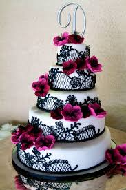 Wedding CakesBlack And White Pink Cakes Beautiful Elegant Black