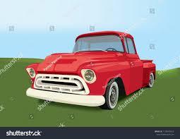 100 Ford Truck Values Vintage Pickup Vector Illustration Oldschool American