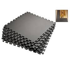 amazon com grey 72 sqft anti fatigue exercise mats foam gym floor